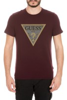 GUESS - Ανδρικό t-shirt GUESS ANONYMOUS μπορντό