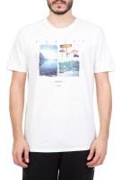 HURLEY - Ανδρική κοντομάνικη μπλούζα HURLEY VACAY AWAY λευκή