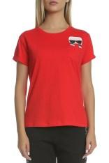 eb8b61b4a07f KARL LAGERFELD - Γυναικεία κοντομάνικη μπλούζα KARL LAGERFELD κόκκινη