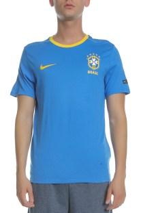 NIKE - Ανδρική κοντομάνικη μπλούζα NIKE BRASIL CREST μπλε