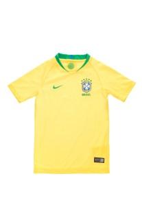 NIKE - Παιδική εμφάνιση ποδοσφαίρου NIKE BRASIL BRT STAD JSY SS κίτρινη
