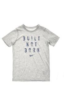NIKE - Αγoρίστικη κοντομάνικη μπλούζα NIKE DRY TEE BUILT NOT BORN γκρι