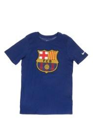 NIKE - Παιδικό t-shirt NIKE FC BARCELONA CREST μπλε