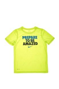 NIKE - Αγορίστικη μπλούζα NIKE DRY LEG TEE TO BE AMAZED κίτρινη