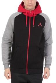 NIKE - Ανδρική φλις ζακέτα Jordan Sportswear Jumpman ΝΙΚΕ μαύρη-γκρι