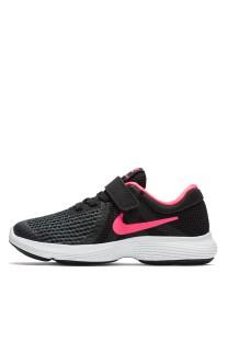 NIKE - Παιδικά παπούτσια NIKE REVOLUTION 4 (PSV) μαύρα