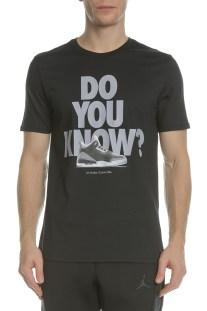 NIKE - Ανδρική κοντομάνικη μπλούζα NIKE AJ3 μαύρη με στάμπα