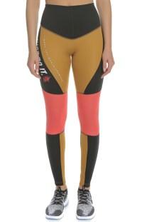 online store 0e741 a8aeb NIKE - Γυναικείο κολάν Nike Dri-FIT Power Graphic μπεζ-μαύρο