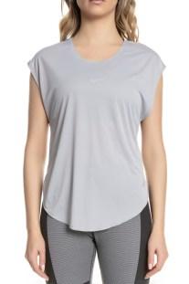 ba423e46a1 NIKE - Γυναικεία κοντομάνικη μπλούζα Nike City Sleek γκρι-ασημί