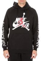 NIKE - Ανδρική φούτερ μπλούζα NIKE J JUMPMAN CLASSICS FLC PO μαύρη