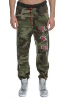 NIKE - Ανδρικό παντελόνι φόρμας NIKE J JM CLSCS CAMO FLC χακί
