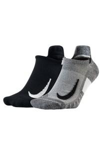 NIKE - Κάλτσες Nike Multiplier σετ των 2 γκρι - μαύρο