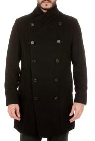 RELIGION - Ανδρικό παλτό RELIGION CAPTAIN COAT μαύρο