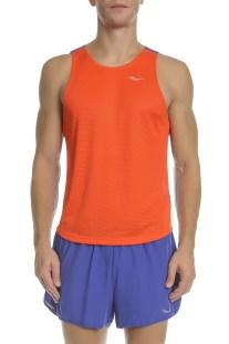 SAUCONY - Ανδρική μπλούζα HYDRALITE SINGLET πορτοκαλί-μπλε