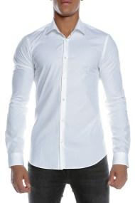 SCOTCH & SODA - Ανδρικό μακρυμάνικο πουκάμισο SCOTCH & SODA λευκό