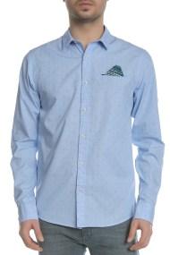 SCOTCH & SODA - Ανδρικό μακρυμάνικο πουκάμισο SCOTCH & SODA μπλε