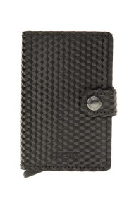 SECRID - Θήκη καρτών SECRID Miniwallet Cubic μαύρη