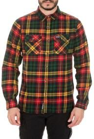 SUPERDRY - Ανδρικό πουκάμισο SUPERDRY CLASSIC LUMBERJACK πράσινο κίτρινο