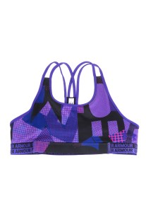 UNDER ARMOUR - Κοριτσίστικο αθλητικό μπουστάκι UNDER ARMOUR HEATGEAR μοβ