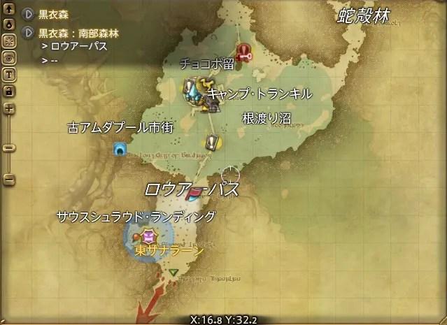 周辺マップ:復興用の亜麻