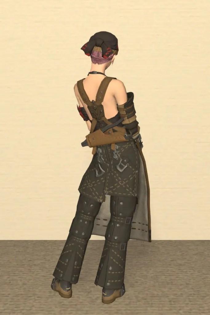 鍛冶師Lv50:ブラックスミス装備 背面