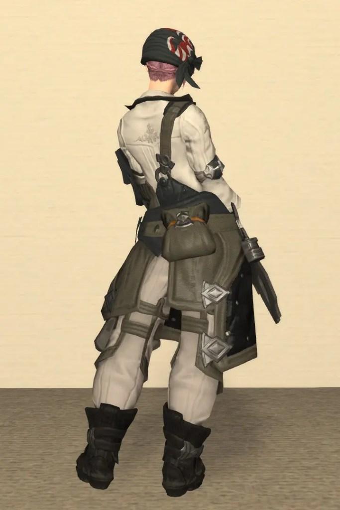 鍛冶師Lv70:フォージキング装備 背面
