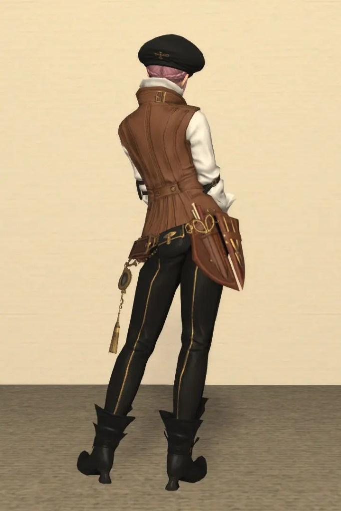 彫金師Lv80:ジェムフィーンド装備 背面