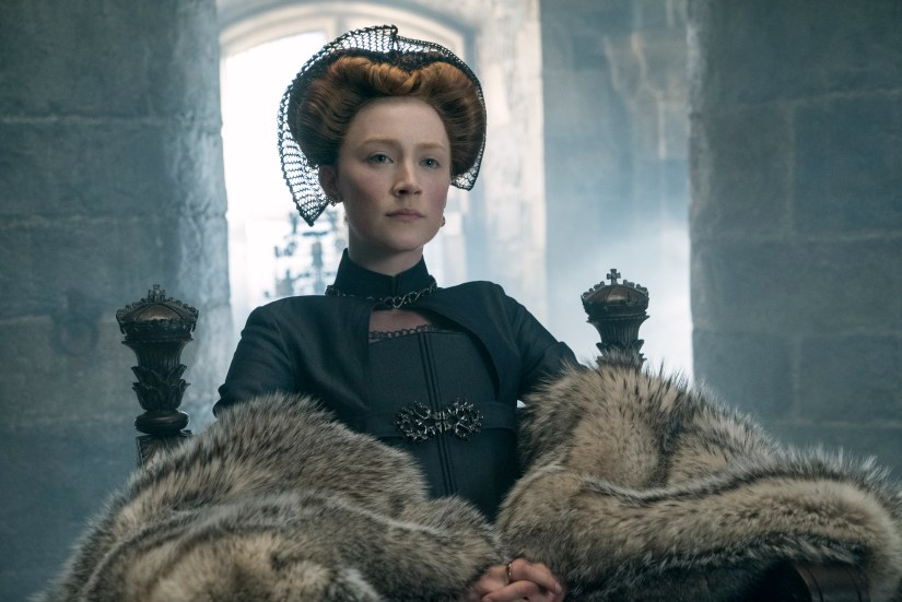 Saoirse Ronan stars as Mary Stuart in MARY QUEEN OF SCOTS, a Focus Features release.