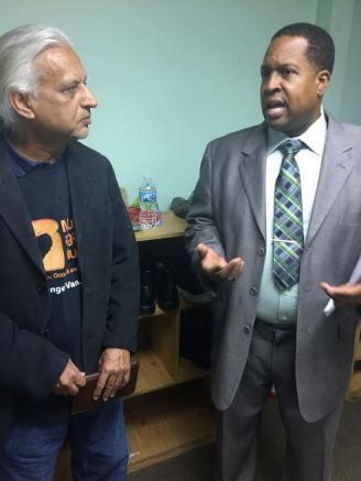 Zamir Hassan speaks with Imam Wallace Muhammad at The Mosque Cares