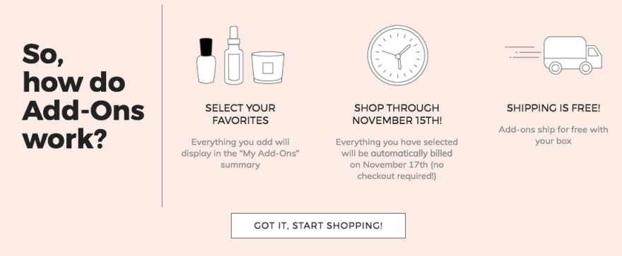 FabFitFun Add-on's Winter 2017