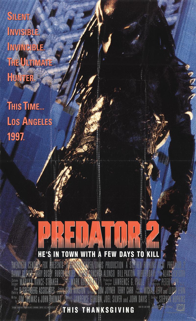 Predator 2 1990 Original Movie Poster #fff14786