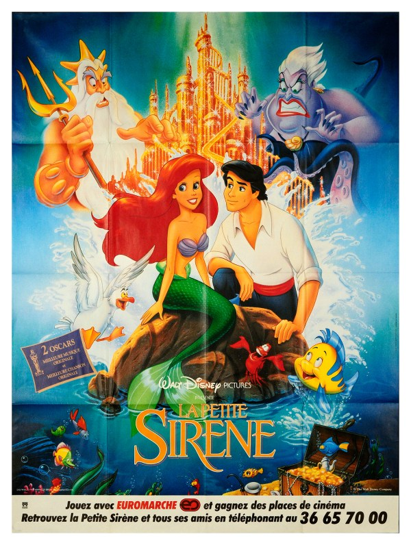 The Little Mermaid 1989 4575x6175 Orig Movie Poster FFF