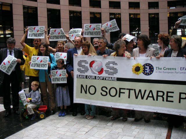 European Greens against software patents