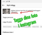 Tagga på Instagram