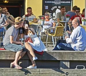 En selfie i Nyhavn