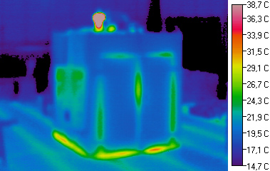 Infrared picture of a Meier Over showing low losses