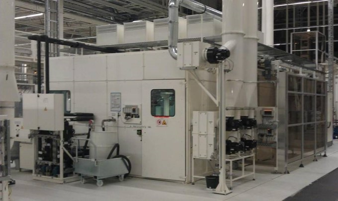 Back side of production plant with trickling and resistance UV from Meier