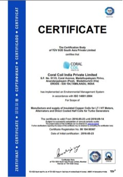 ISO 14001 Certificate Corel Coil
