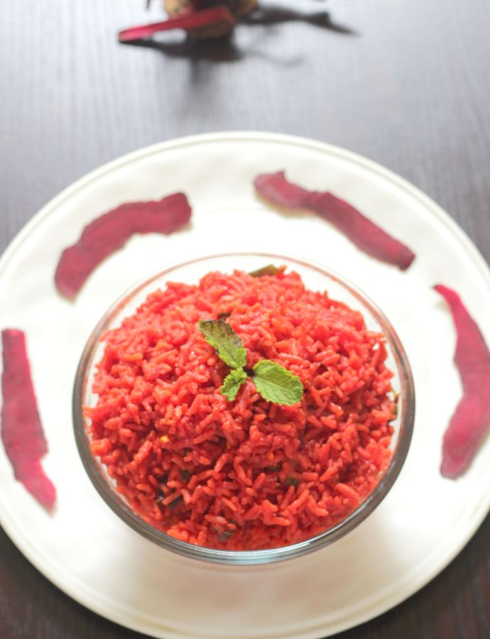 Beetroot Pulao – Beetroot Rice for Lunchbox
