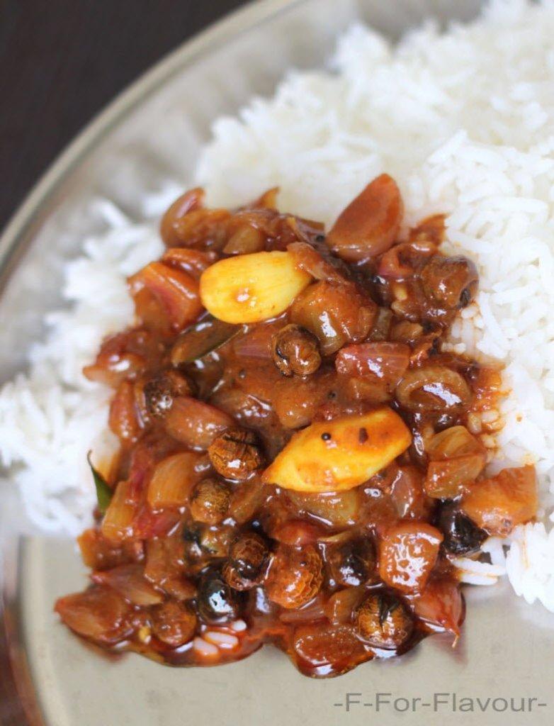 sundakkai vathal kulambu with rice