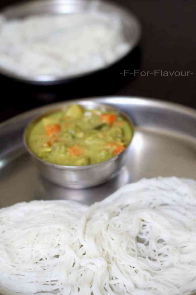Idiyappam with Veg Kurma