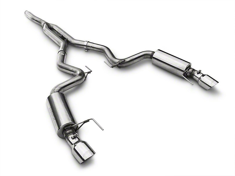 mbrp xp series 2015 2021 ford ecoboost mustang t409 cat back exhaust street version