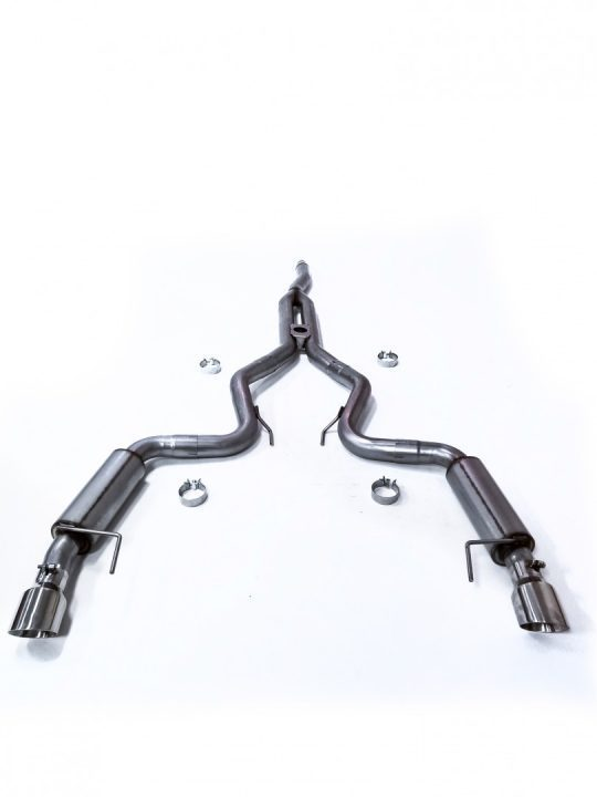 circuit concept garage 2015 2020 ford mustang ecoboost stainless steel dual exit exhaust