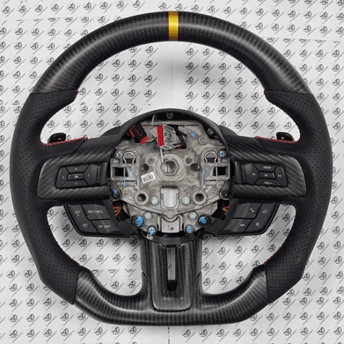 Carbontastic 2018-2020 Ford Mustang Carbon Fiber Steering Wheel (6-Speed Manual) - Function ...