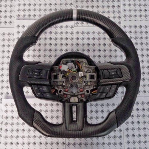 Carbontastic 2018-2020 Ford Mustang Carbon Fiber Steering Wheel (Paddle Shifted) - Function ...