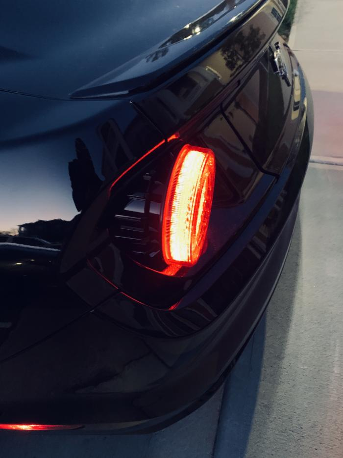 Raxiom 2015-2020 Ford Mustang Halo LED Tail Lights - Smoked - Function Factory Performance