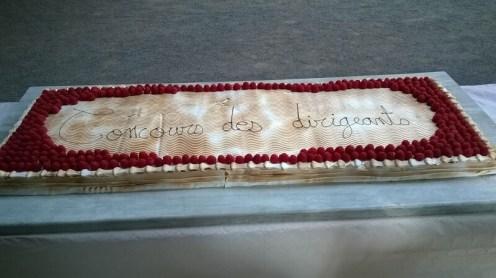 un gâteau apprécié tout comme le repas