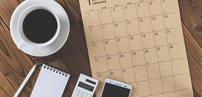 Coffee and calender