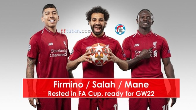 Liverpool front 3 rested