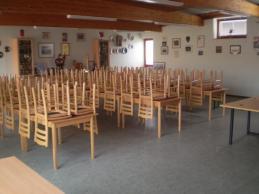 Weiters verfügen wir über einen großen Schulungssaal in dem jedes Jahr die Einsatzmaschinistenausbildung des Bezirkes Horn abgehalten wird